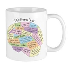 Quilter's Brain Small Mug