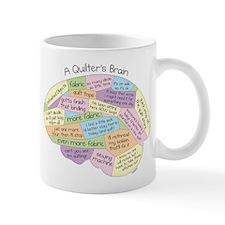 Quilter's Brain Small Mug