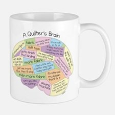 Quilter's Brain Small Small Mug