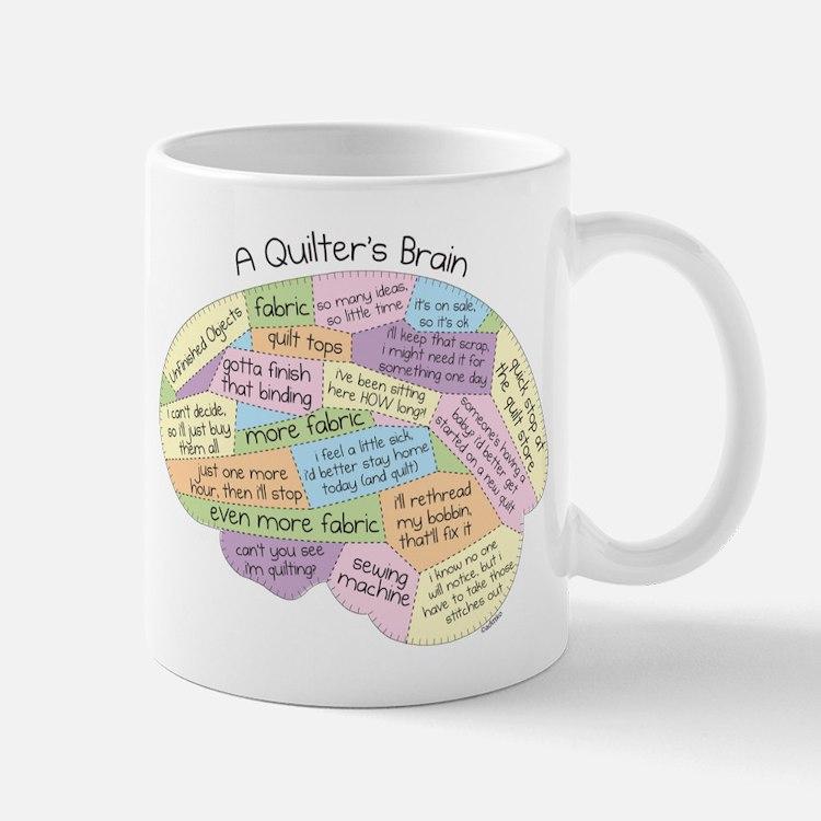 Quilter's Brain Small Small Mug
