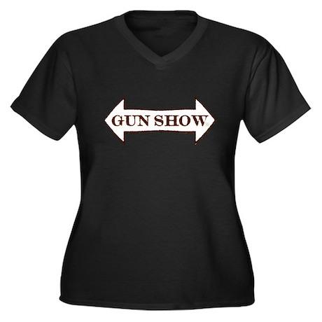 Gun Show Women's Plus Size V-Neck Dark T-Shirt