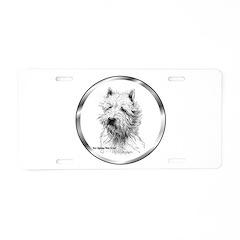 Westie Aluminum License Plate
