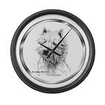 Westie Large Wall Clock