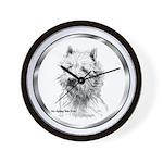 Westie Wall Clock