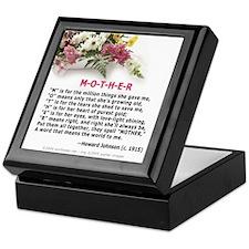 M-O-T-H-E-R Keepsake Box