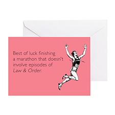 Finishing A Marathon Greeting Card