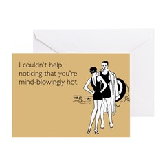 Mind-Blowingly Hot Greeting Card