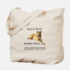 American Brown Dog Tote Bag