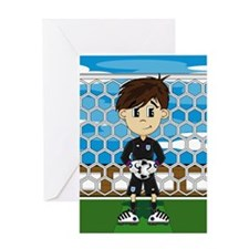 England Soccer Goalkeeper Greeting Card