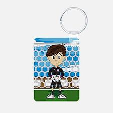 England Soccer Goalkeeper Aluminum Keychain
