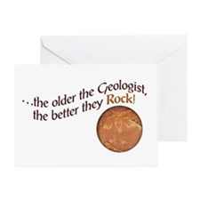 The older the Geologist... Greeting Card