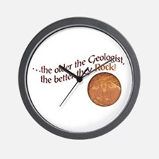 The older the Geologist... Wall Clock