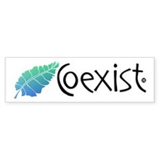 coexist_3 Bumper Bumper Sticker