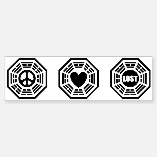 Peace Love Lost [b/w] Sticker (Bumper)