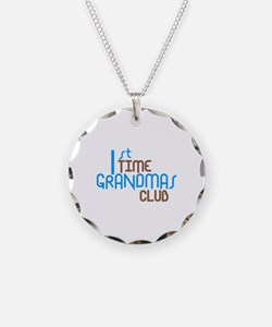 1st Time Grandmas Club (Blue) Necklace Circle Char