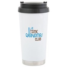 1st Time Grandmas Club (Blue) Travel Mug