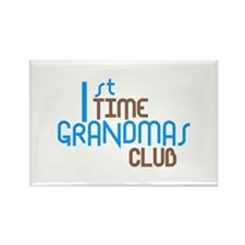 1st Time Grandmas Club (Blue) Rectangle Magnet