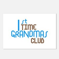 1st Time Grandmas Club (Blue) Postcards (Package o