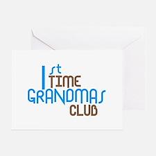 1st Time Grandmas Club (Blue) Greeting Card