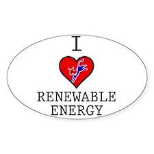 I Love Renewable Energy Decal