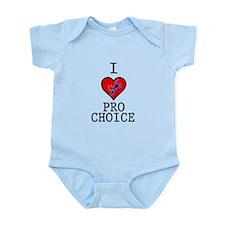 I Love Pro Choice Onesie