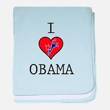 I Love Obama baby blanket