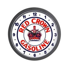 Red Crown Gasoline Wall Clock
