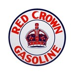 Red Crown Gasoline Ornament (Round)