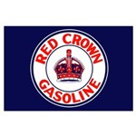 Red Crown Gasoline Large Poster