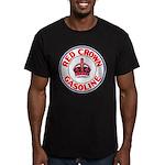 Red Crown Gasoline Men's Fitted T-Shirt (dark)