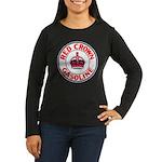 Red Crown Gasoline Women's Long Sleeve Dark T-Shir