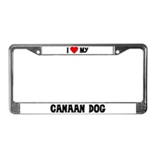 I Love My Canaan Dog License Plate Frame