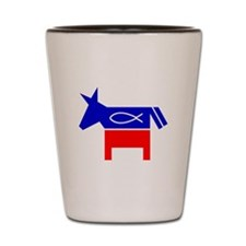 Christian Fish Dem Donkey Shot Glass