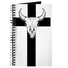 Funny Bull skull Journal