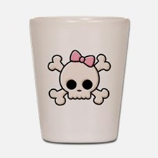 Cute Skull Girl Shot Glass