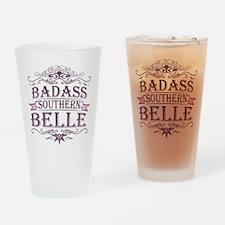 Pink Badass Southern Belle Pint Glass