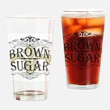 Vintage Brown Sugar Drinking Glass