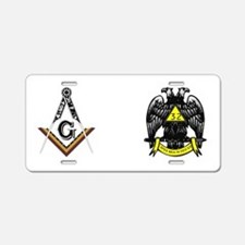 Unique Masonic Aluminum License Plate