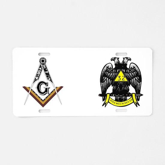 Unique Masonic Aluminum License Plate