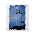 Nobska Point Lighthouse Throw Blanket