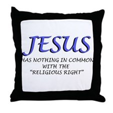 Religious Right are Wrong Throw Pillow
