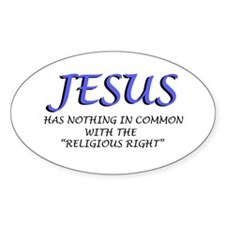 Religious Right are Wrong Oval Decal