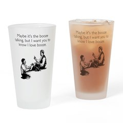 Love Booze Pint Glass