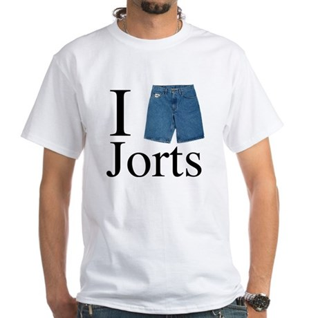 I Heart Jorts White T-Shirt