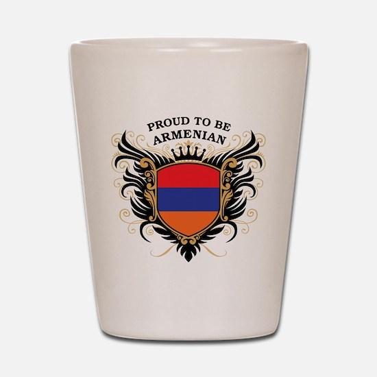 Proud to be Armenian Shot Glass