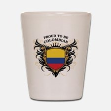 Proud to be Colombian Shot Glass