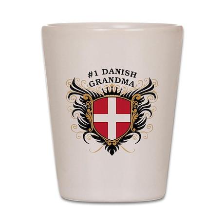 Number One Danish Grandma Shot Glass