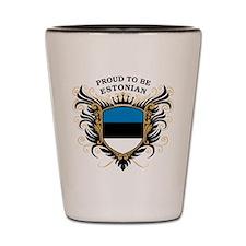 Proud to be Estonian Shot Glass