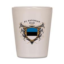 Number One Estonian Dad Shot Glass