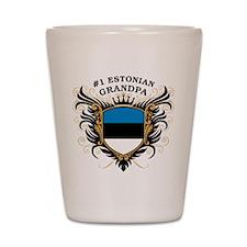 Number One Estonian Grandpa Shot Glass